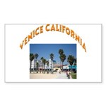 Venice California Sticker (Rectangle 10 pk)