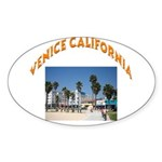 Venice California Sticker (Oval 50 pk)