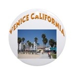 Venice California Ornament (Round)