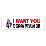 Throw The Bums Out Sticker (Bumper 50 pk)