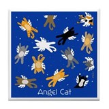 Cat Angels with Wings Tile Coaster
