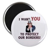 "IWU - Protect our Borders! 2.25"" Magnet (100 pack)"