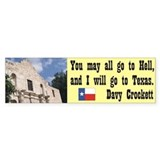 Davy Crockett Bumper Sticker