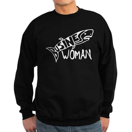 Business Woman (shark) Sweatshirt (dark)