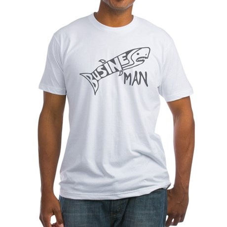 Business Man (shark) Fitted T-Shirt