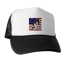 Patriot Brittany Pup Trucker Hat