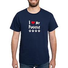 I Love My Puggle T-Shirt