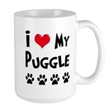 I Love My Puggle Mug