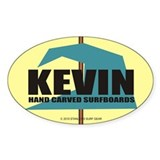 Kevin Hand Carved Surfboards Decal