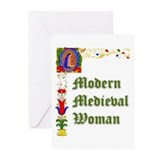 Modern Medieval Woman Greeting Cards (Pk of 10