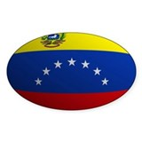 Venezuela flag rounded Oval Decal
