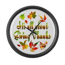 Thanksgiving Large Wall Clock