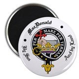 "MacDonald Clan Badge Crest 2.25"" Magnet (100 pack)"