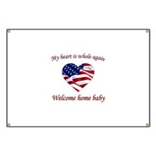 Cute Welcome home soldier Banner