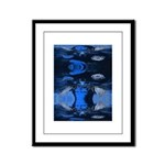 Mona Moose Blue Framed Panel Print