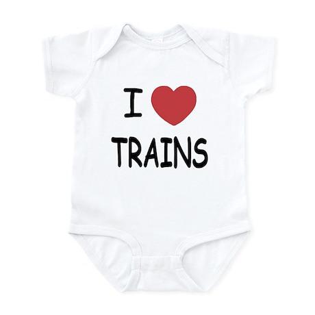 I heart trains Infant Bodysuit