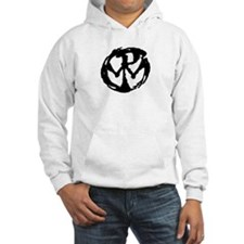Funny White logo Hoodie