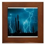 Sonoran Storm Framed Tile