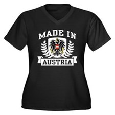 Made in Austria Women's Plus Size V-Neck Dark T-Sh