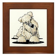 Curious Wheaten Terrier Framed Tile