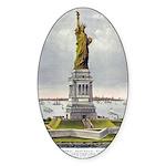 Statue of Liberty-1885 Sticker (Oval 10 pk)