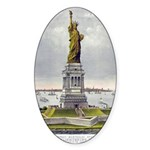 Statue of Liberty-1885 Sticker (Oval)