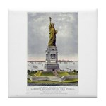 Statue of Liberty-1885 Tile Coaster