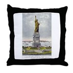 Statue of Liberty-1885 Throw Pillow