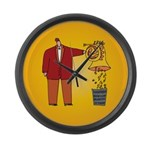 Funny French Horn Large Wall Clock