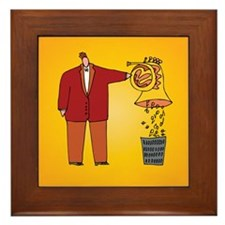 Funny French Horn Spit Music Framed Tile