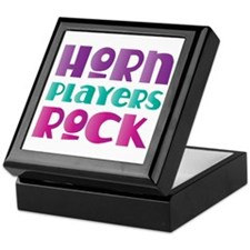 Horn Players Rock Keepsake Box
