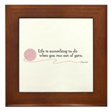"""Life is"" - Framed Tile"