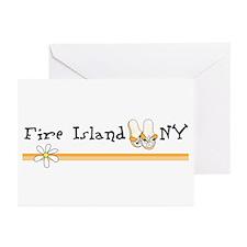 Flip Flops Fire Island Greeting Cards (Pk of 20)