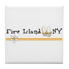 Flip Flops Fire Island Tile Coaster