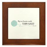 """Yarn Sale!"" - Framed Tile"