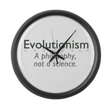 Evolutionism Large Wall Clock