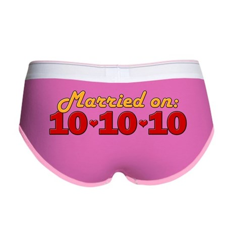 Married On 10/10/10 Women's Boy Brief