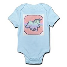 Distressed Unicorn Infant Creeper
