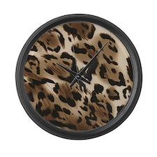 Animal Print Large Wall Clock