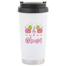 Ladybug Oboe Music Ceramic Travel Mug