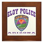 Eloy Police Framed Tile