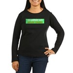 Stop Government Waste Women's Long Sleeve Dark T-S
