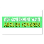 Stop Government Waste Sticker (Rectangle)