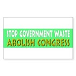 Stop Government Waste Sticker (Rectangle 50 pk)