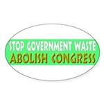 Stop Government Waste Sticker (Oval 10 pk)