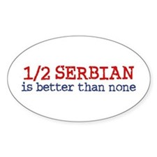 Half Serbian Decal