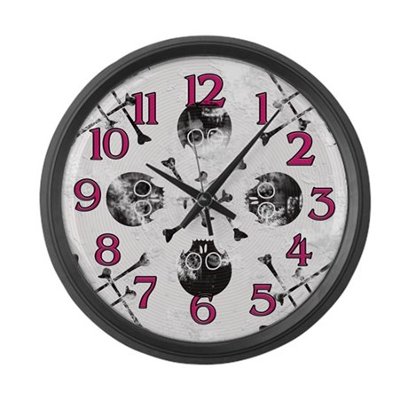 Skulls 'n' Bones Large Wall Clock