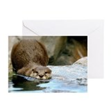 River Otter (Gone Fishin) Greeting Cards (Pk of 10
