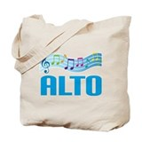 Colorful Music Alto Tote Bag