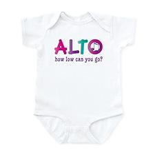 Funny Alto Singing Joke Infant Bodysuit
